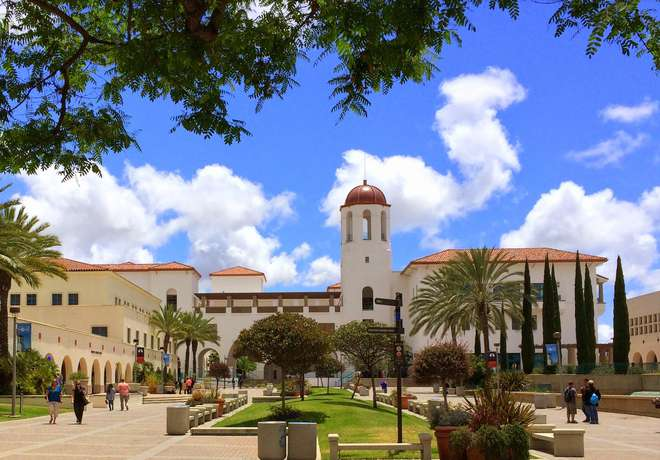 instituut, SDSU, campus, University, San Diego