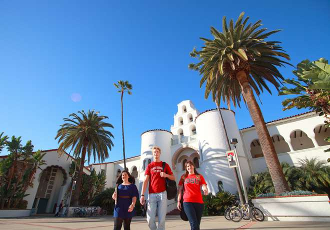 SDSU, University, campus, instituut, San Diego